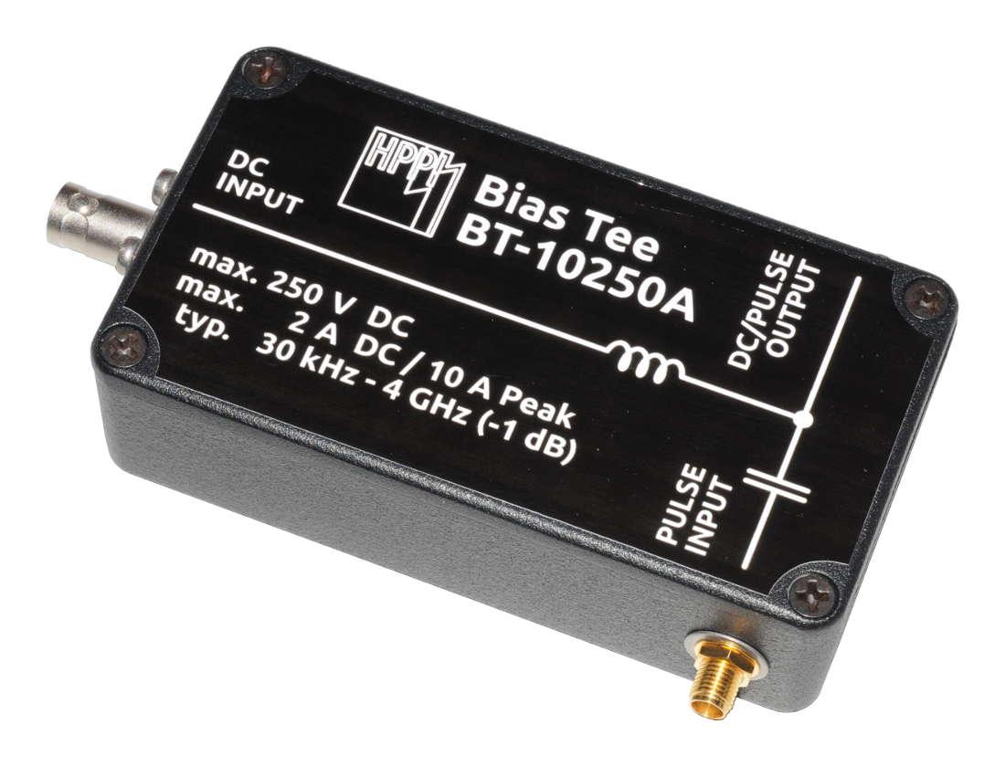 30 kHz – 4 GHz, 10 A, 250 V High Current Bias Tee BT-10250A